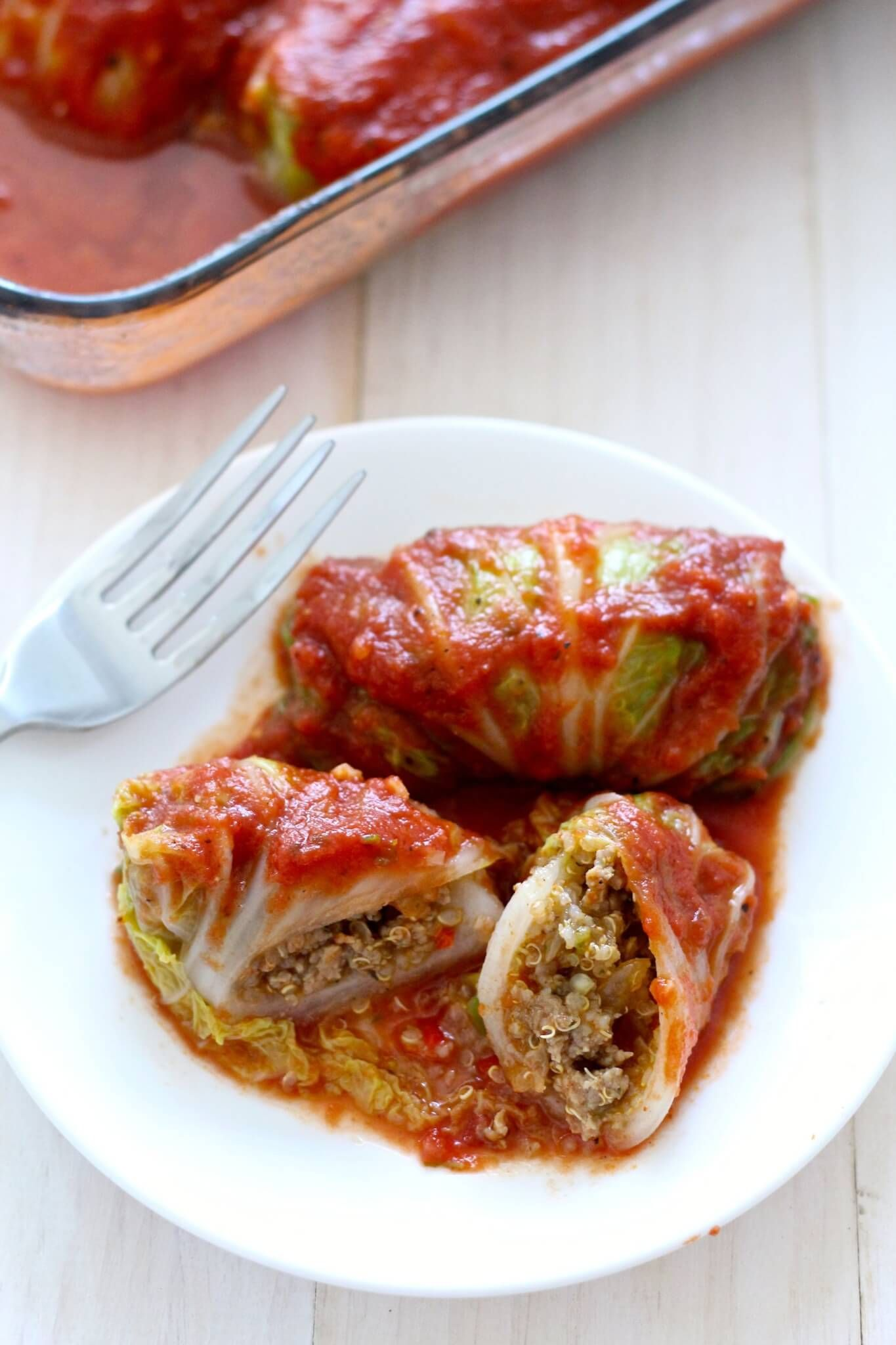 Share this post! Cabbage Rolls are something I've always wanted to try, but never quite got around to making. When I was recently invited to a fall potluck at a friend's house and learned that one invitee couldn't eat gluten, I decided to experiment and make them with quinoa! Obviously with that healthier step taken, …