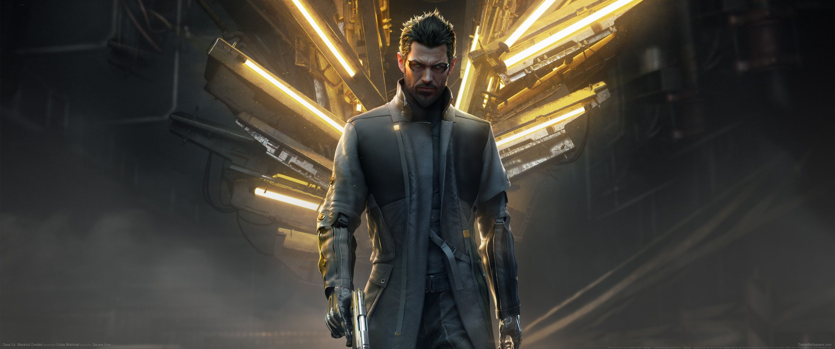 Video Games Ultrawide Ultra Wide Deus Ex Mankind Divided Cyberpunk Deus Ex 2k Wallpaper Hdwallpa Deus Ex Mankind Divided Video Games Astronaut Wallpaper