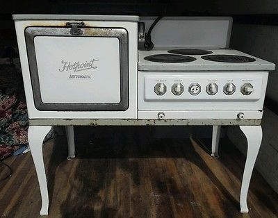 Details about Antique Hotpoint Electric Stove | Stove oven ...