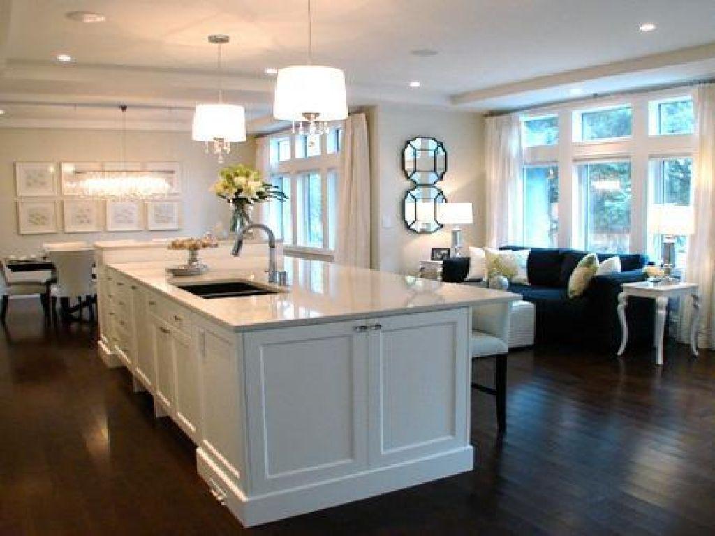 Espresso Wood Flooringwith Green Movement In 2020 White Kitchen Dark Floors White Kitchen Island