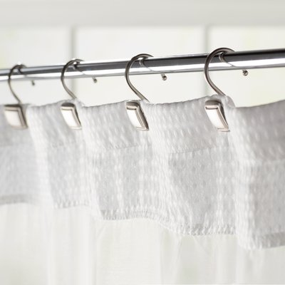 The Twillery Co Burnett Square Wall Mounted Shower Curtain Hooks