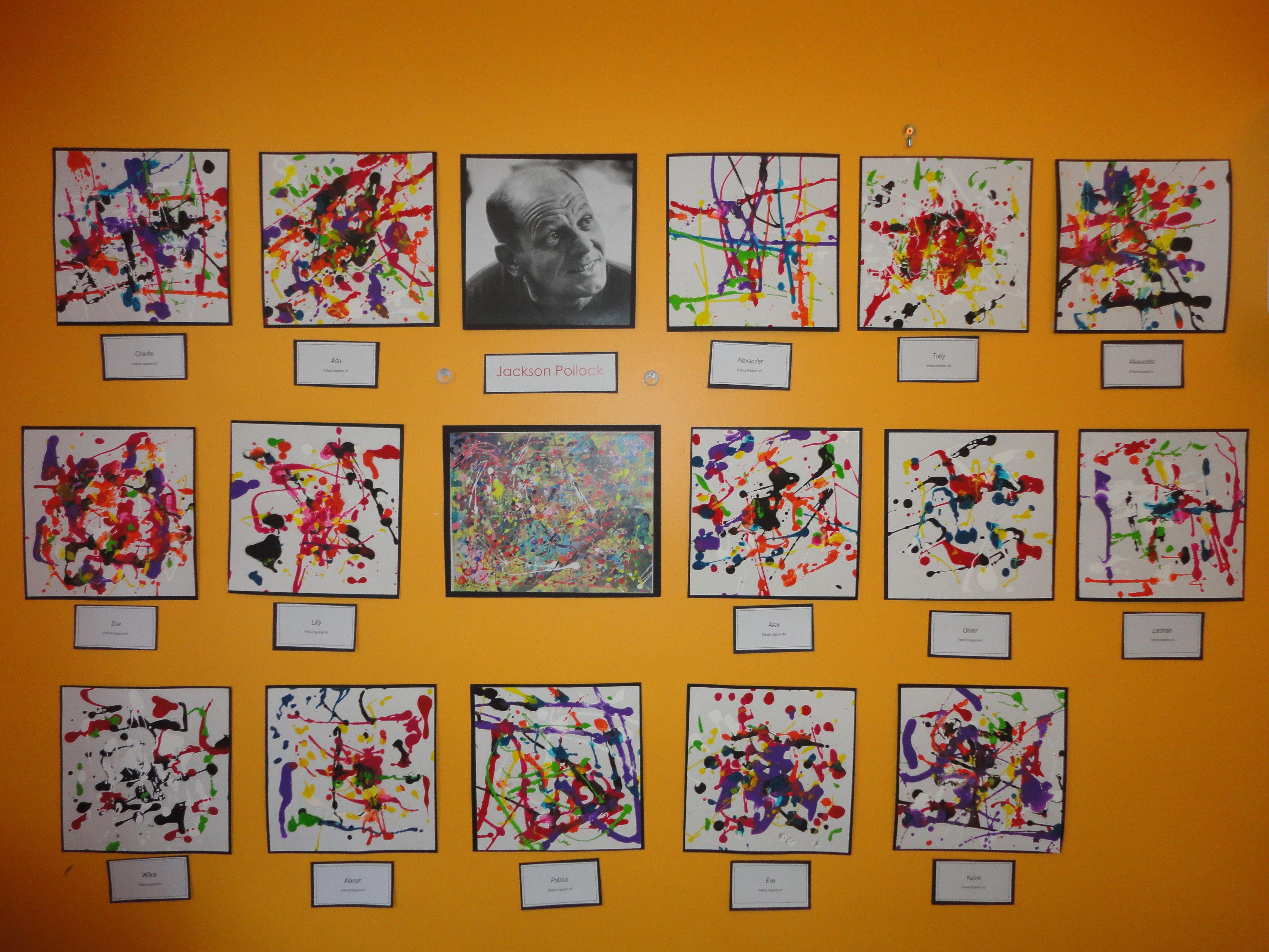 Pollock Inspired Art New Horizons Preschool