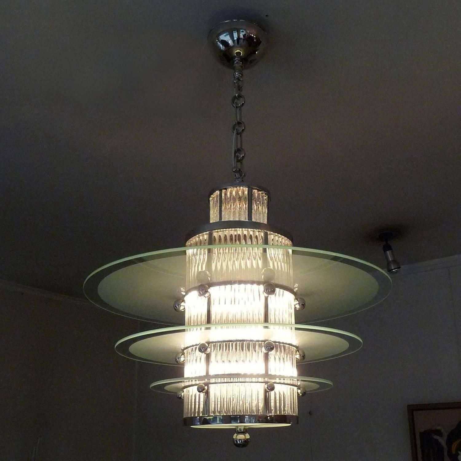 with ceiling ceilings room centre globe light have art stepped complete a furniture shade gallery here cloud any for white sales we deco large pendant wonderful and chrome matching