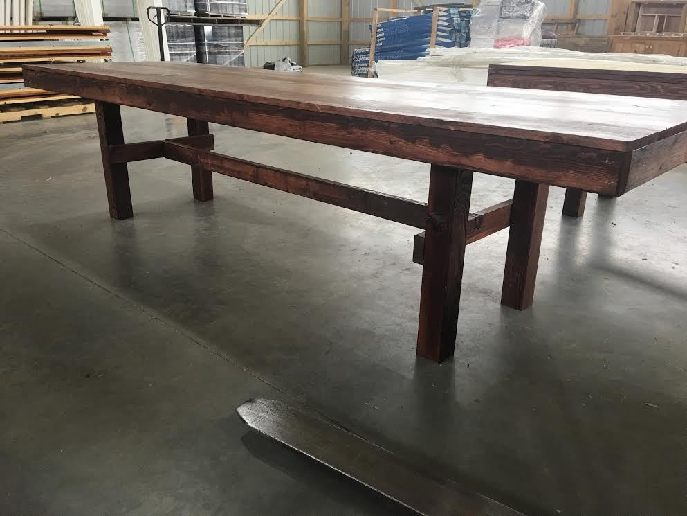 10ft Farmhouse Barnwood Farm Style Dining Table Amish Made Brand