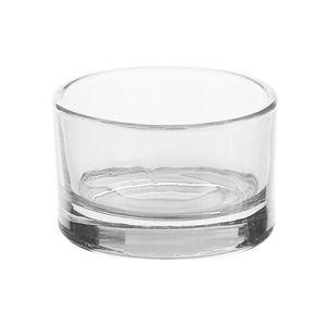 Photophore en verre diam tre 5 x h 3 cm blanc la foir 39 fouille mariage decoration - Console en verre la foir fouille ...