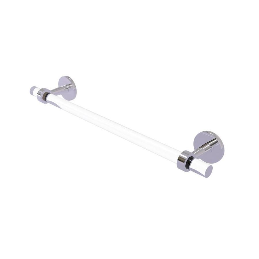 Allied Brass Clearview 36 In Polished Chrome Wall Mount Single Towel Bar Cv 41 36 Pc Polished Chrome Chrome Lowes Home Improvements
