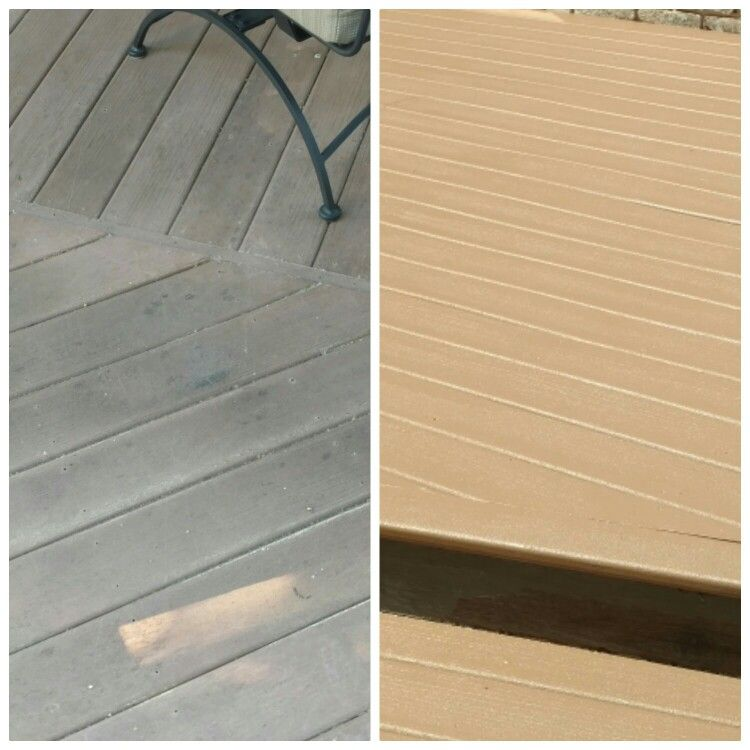 ReService DeckArmor wood and posite deck coating resists mold