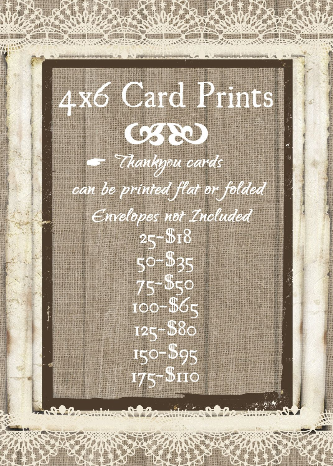 4x6 Thankyou Cards Printing Prices Thank You Cards Card Stock