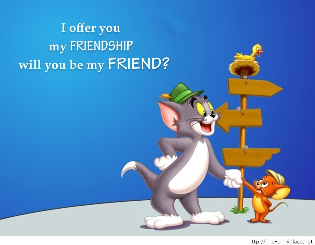 Tom And Jerry Friends Forever Wallpapers Photo Happy Friendship Day Images Friendship Day Images Happy Friendship Day