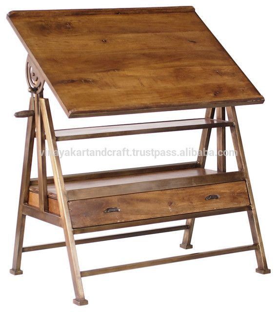 French Vintage Industrial Dining Table,Draft Table Photo, Detailed About  French Vintage Industrial Dining