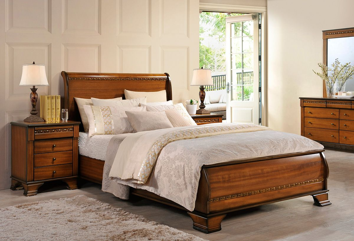 Bedroom Furniture Perth neutral bay bedroom furniture - presented in a soft oak colour