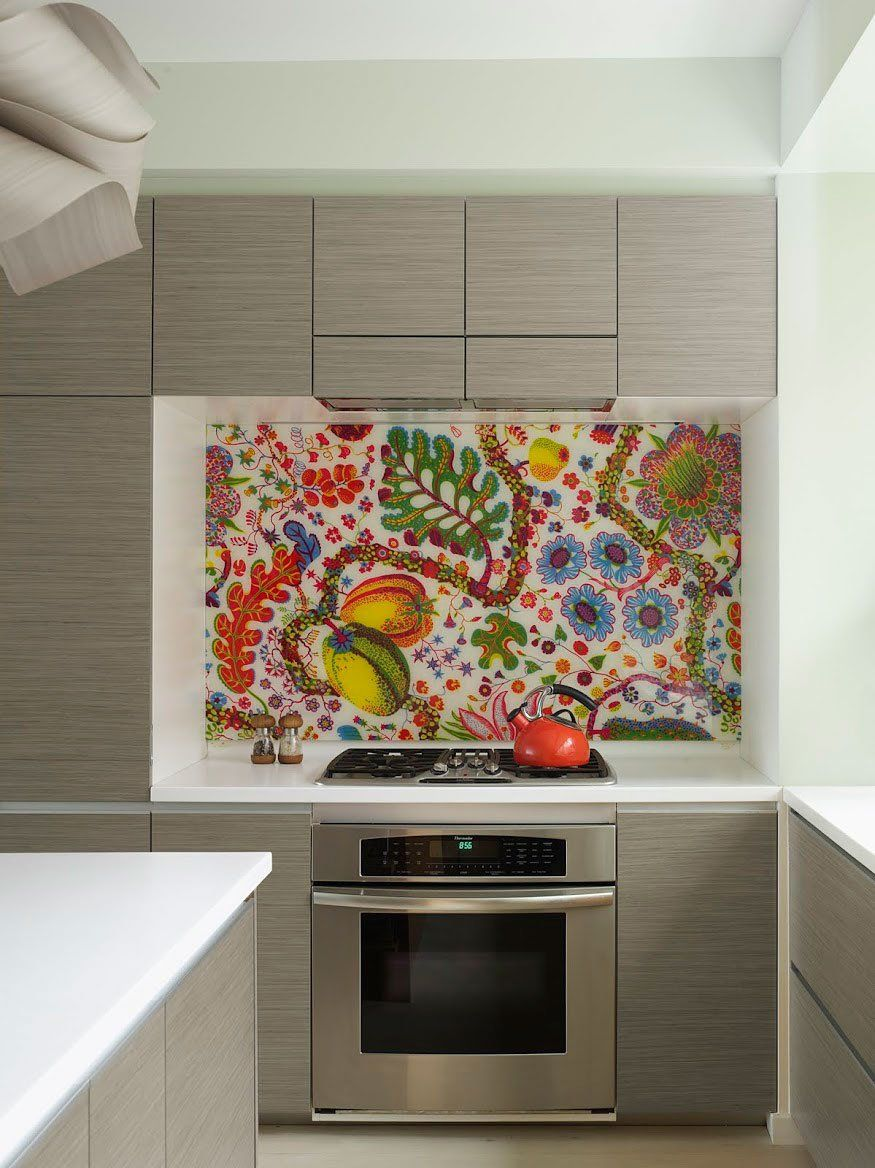 Make A Statement With Your Cooker Splashback This Is Artwork For The Kitchen