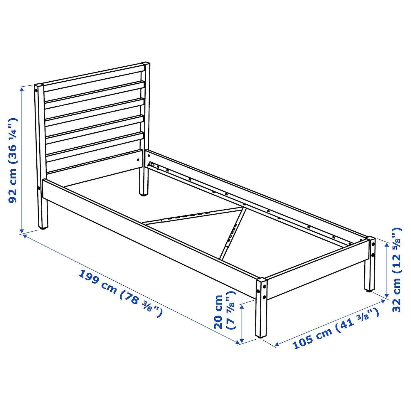 TARVA Bed frame pine, Luröy Twin, 2020 Mimari