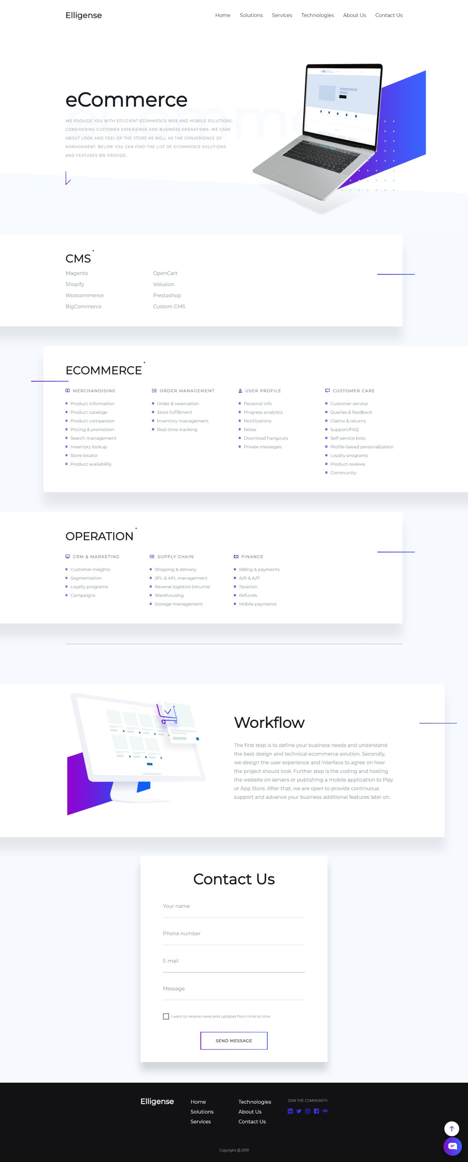 Modern Trendy And Fresh Ecommerce Solutions Landing Page Web Design Inspiration Web Design Corporate Website Design Web Design Quotes