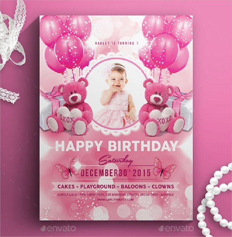 Pink Birthday Invitation Example Free Templates Invitations Kids