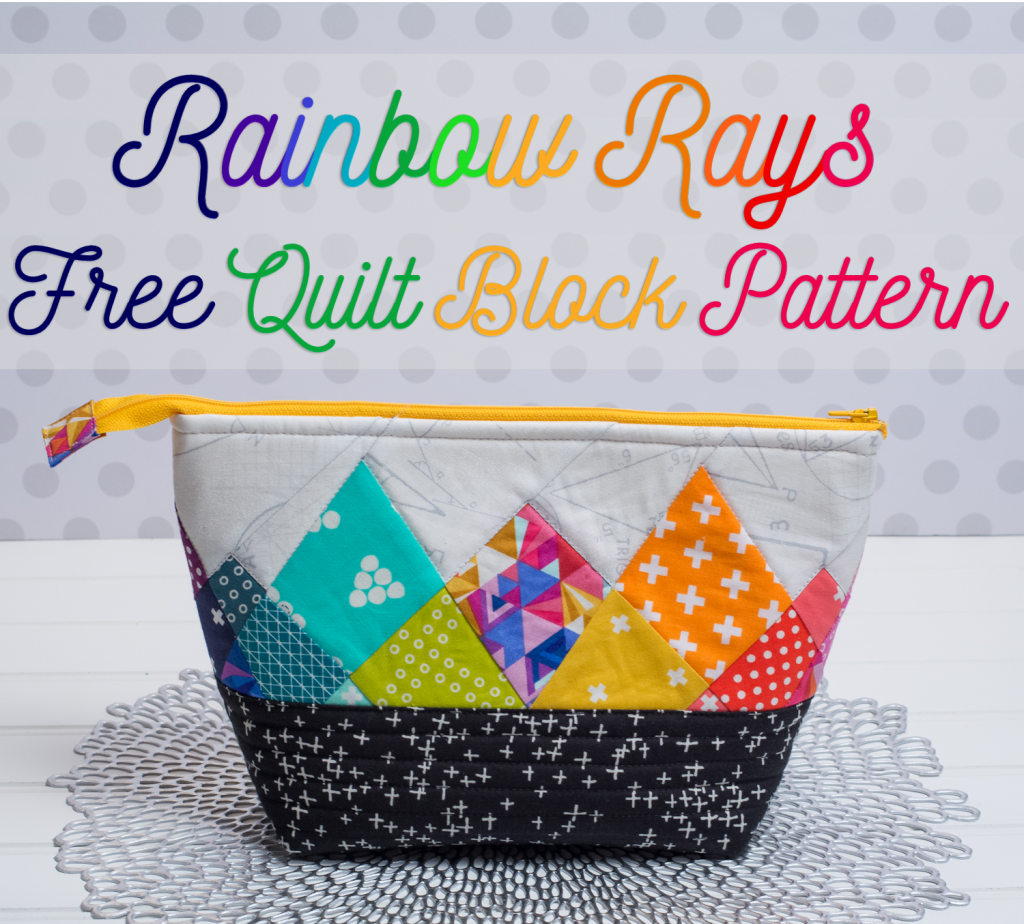 Rainbow Rays - Free Foundation Paper Pieced Quilt Block Pattern