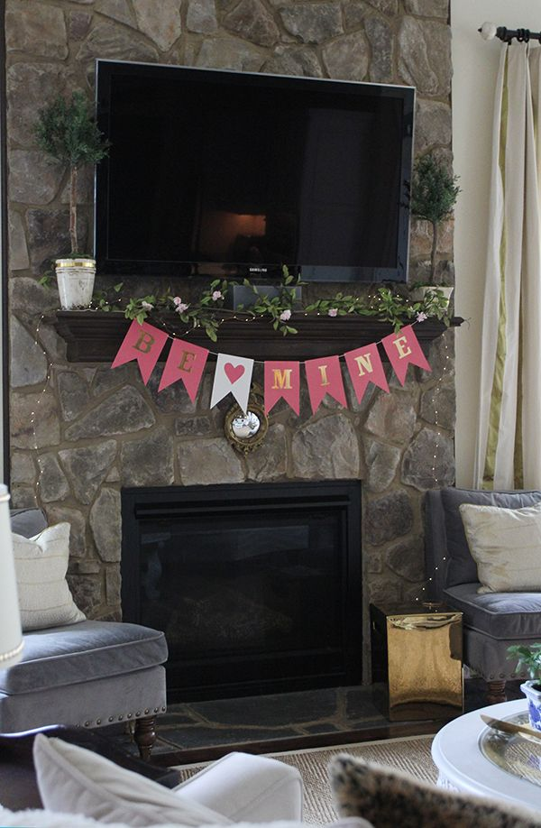 Simple Valentine's Day Mantel and Decor | Less Than Perfect Life of Bliss | home, diy, travel, parties, family, faith