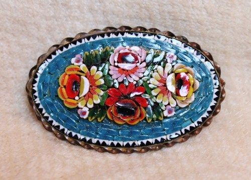 Italian jewelry mosaic vintage