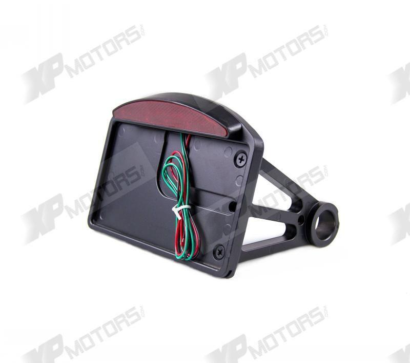 New LED Side Mount Black License Plate For Harley Davidson Dynas ...
