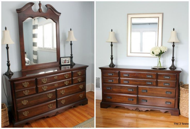How To Update A Dresser Without Paint Cherry Bedroom Furniture Bedroom Furniture Makeover Wood Dresser Decor