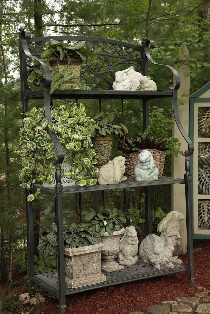 A Few More Favorite Things Outdoor Bakers Rack Garden Decor