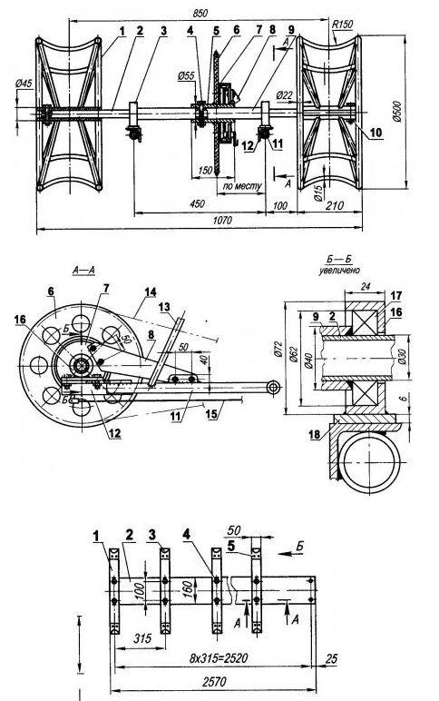 скутер трицикл чертежи
