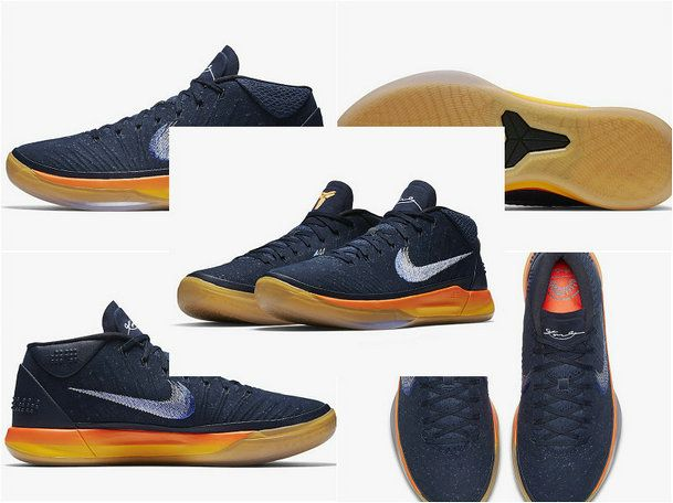 2017-2018 Newest And Cheapest Nike Kobe AD Mid Rise Obsidian White Mega Blue  922482 de1307577d