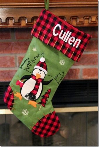 Cute homemade stocking idea for next Christmas