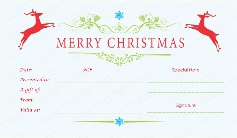 Doc670270 Christmas Gift Certificates Templates 17 Best – Christmas Gift Certificates Templates
