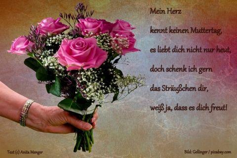 Muttertagskarte Mit Text Von Anita Menger Motiv