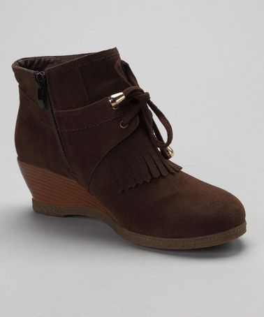 Take a look at this Marrón Shully's Wedge Ankle Botas by Shully's Marrón on zulily 733e07