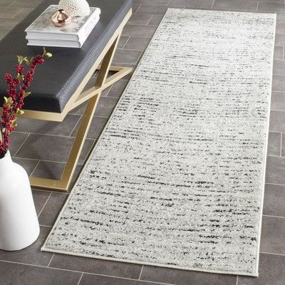 Varick Gallery Seaport Ivory/Silver Area Rug Rug Size:
