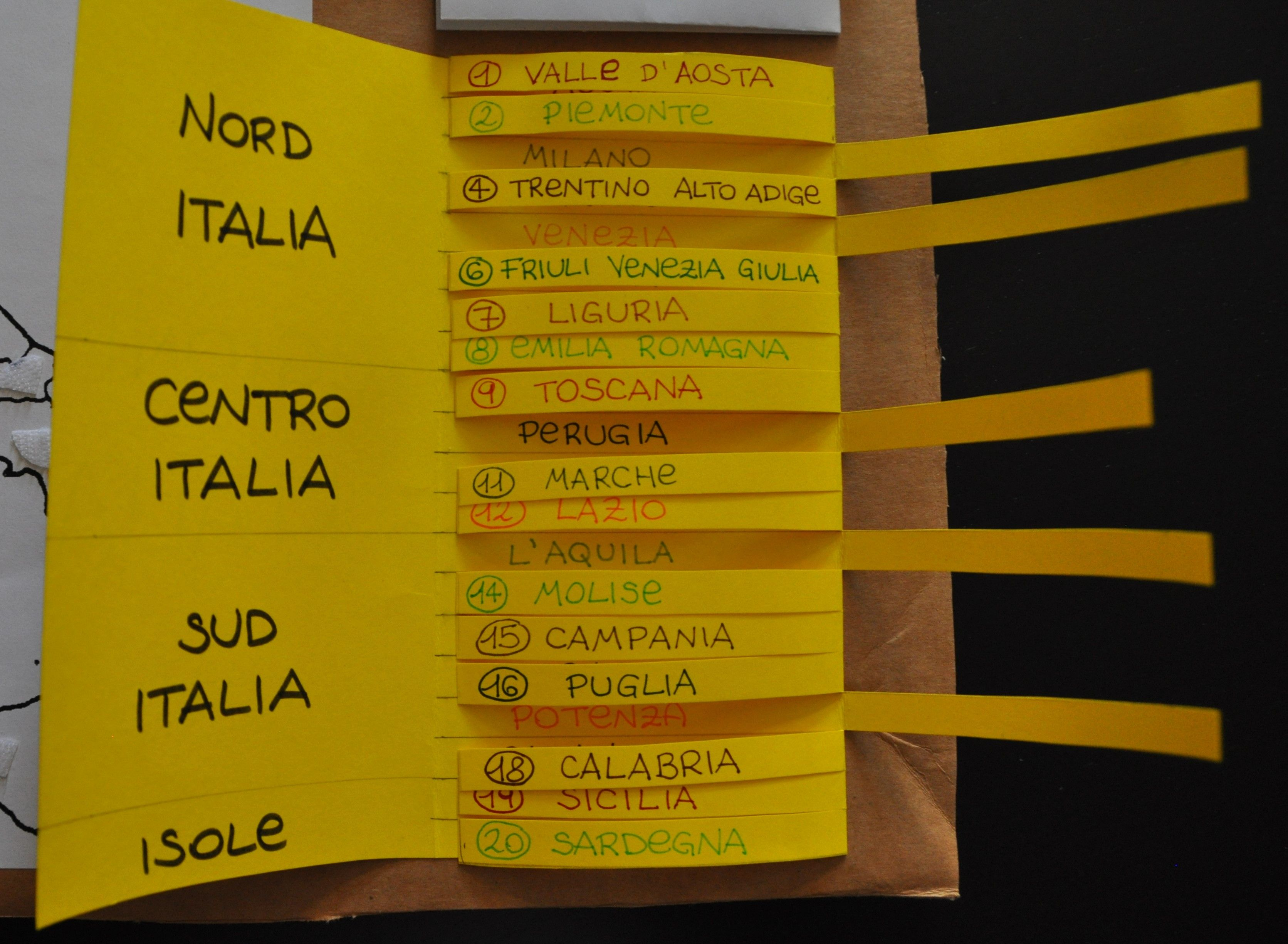 Cartina Muta Italia nord