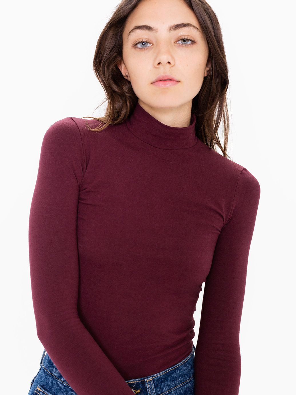 Cotton Spandex Long Sleeve Turtleneck Top | ladybird. | Pinterest ...