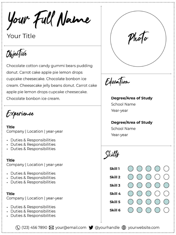 Creative modern professional resume template resume