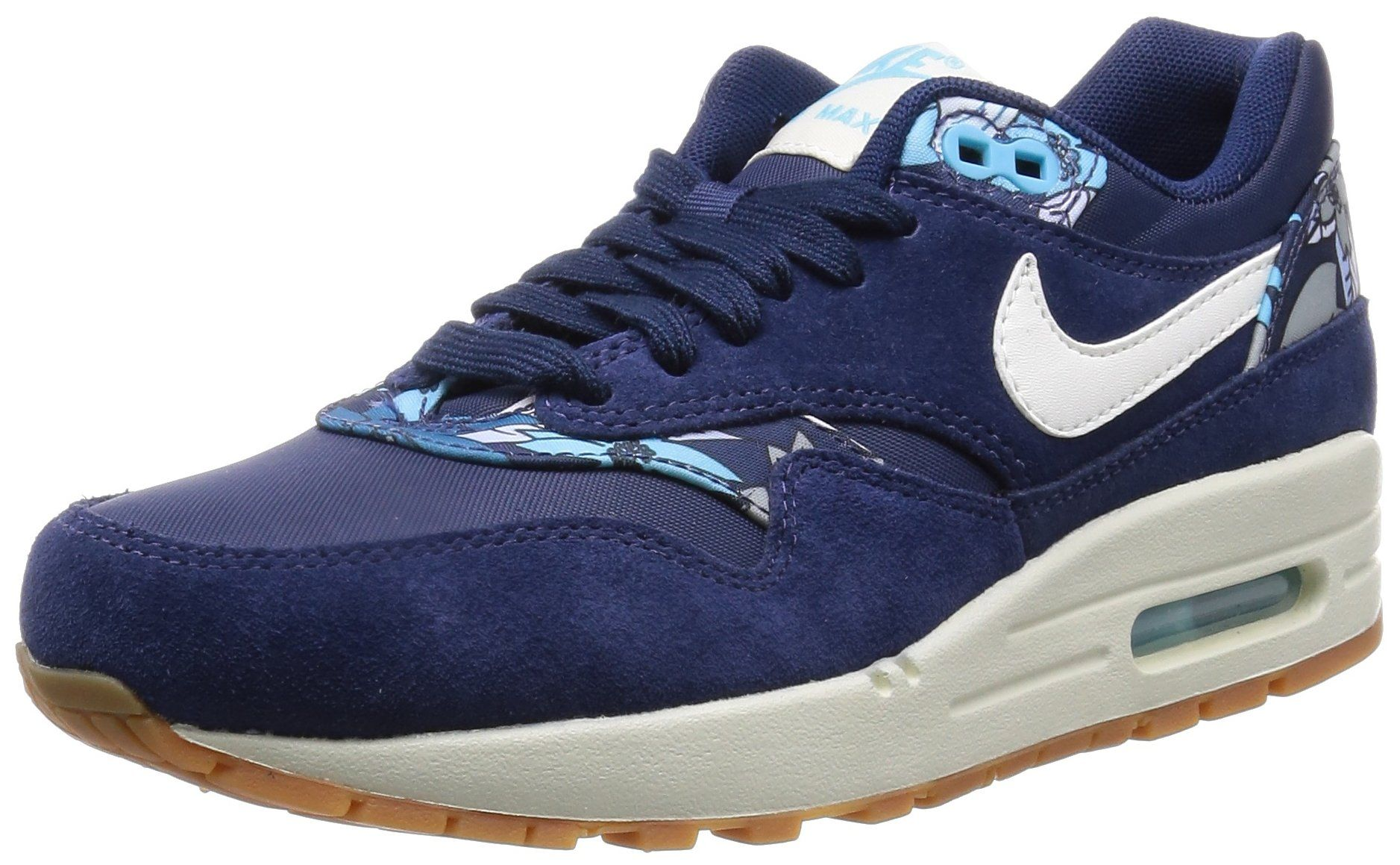 NIKE Womens air Max 1 Print Trainers 528898 Sneakers Shoes