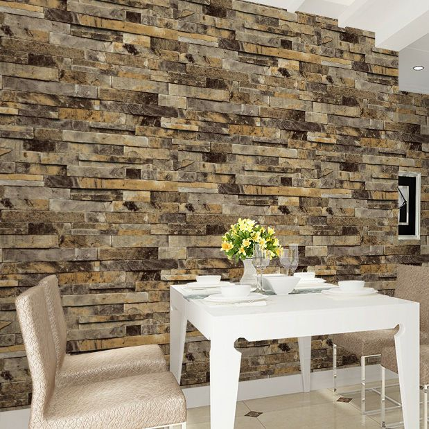 Vinyl Vintage Faux Brick Stone 3d Wallpaper For Home Kitchen Mural 20 8 X393 7 Haokhomewallpaper With Images Stone Wallpaper Faux Brick Faux Brick Wallpaper