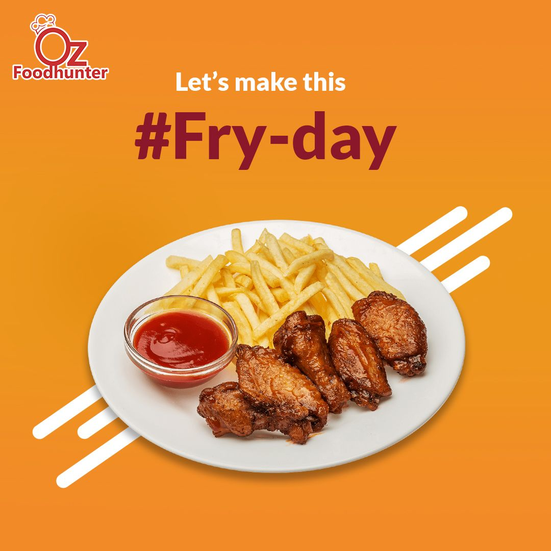 Finally Fryday!! Order your Favourite food from the top