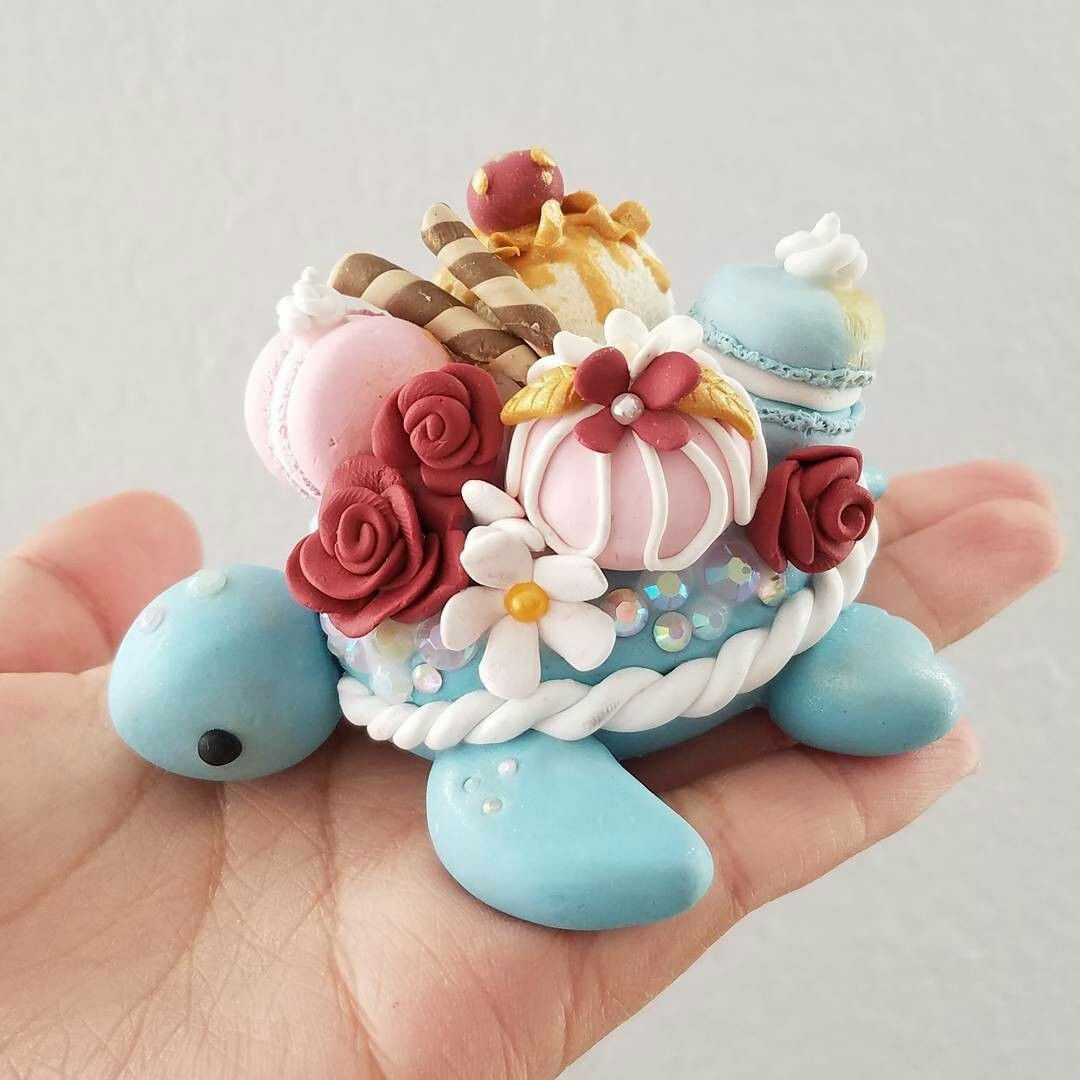 So cute little turtle Creation | Turtle | Polymer clay ... - photo#24