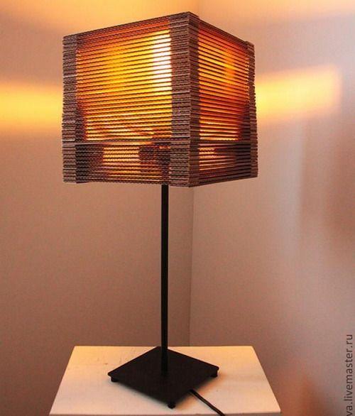 El mundo del reciclaje reciclaje lamparas de carton for Lamparas para apartamentos pequenos