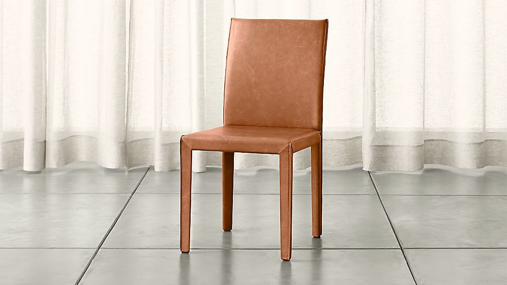 Folio Saddle Top Grain Leather Dining Chair Reviews Crate And