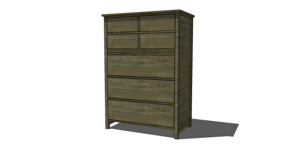 Free Diy Furniture Plans To Build A Pb Inspired Farmhouse Tallboy Dresser The Design Confidential