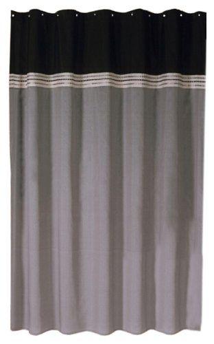 Lush Decor Terra Shower Curtain Black Silver