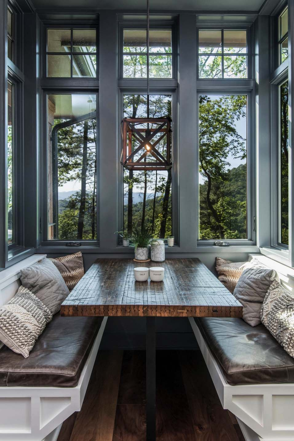 Photo of Inviting modern mountain home surrounded by forest in North Carolina