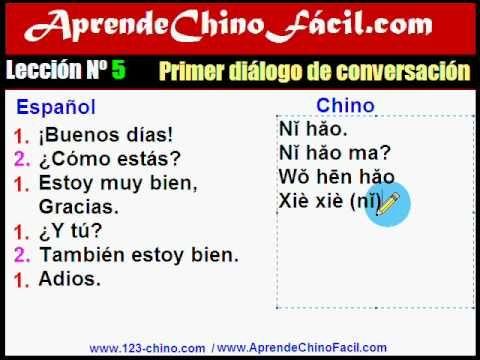 5 Aprende Chino Facil Primer Dialogo De Conversacion Aprender