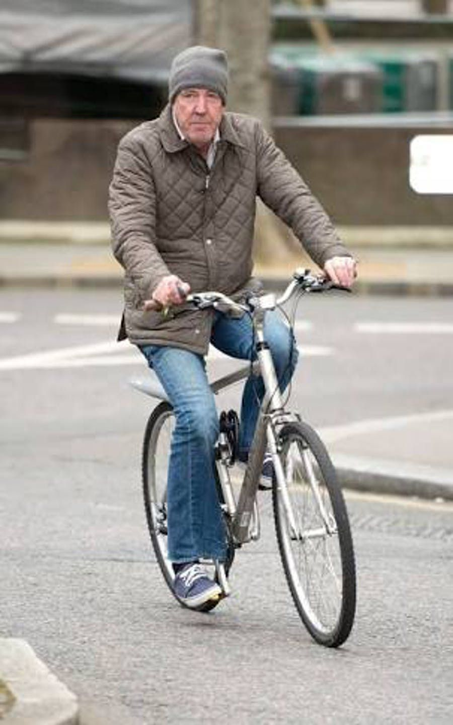 Jeremy Clarkson On A Bicycle I Ve Only Seen Him Behind The Wheel