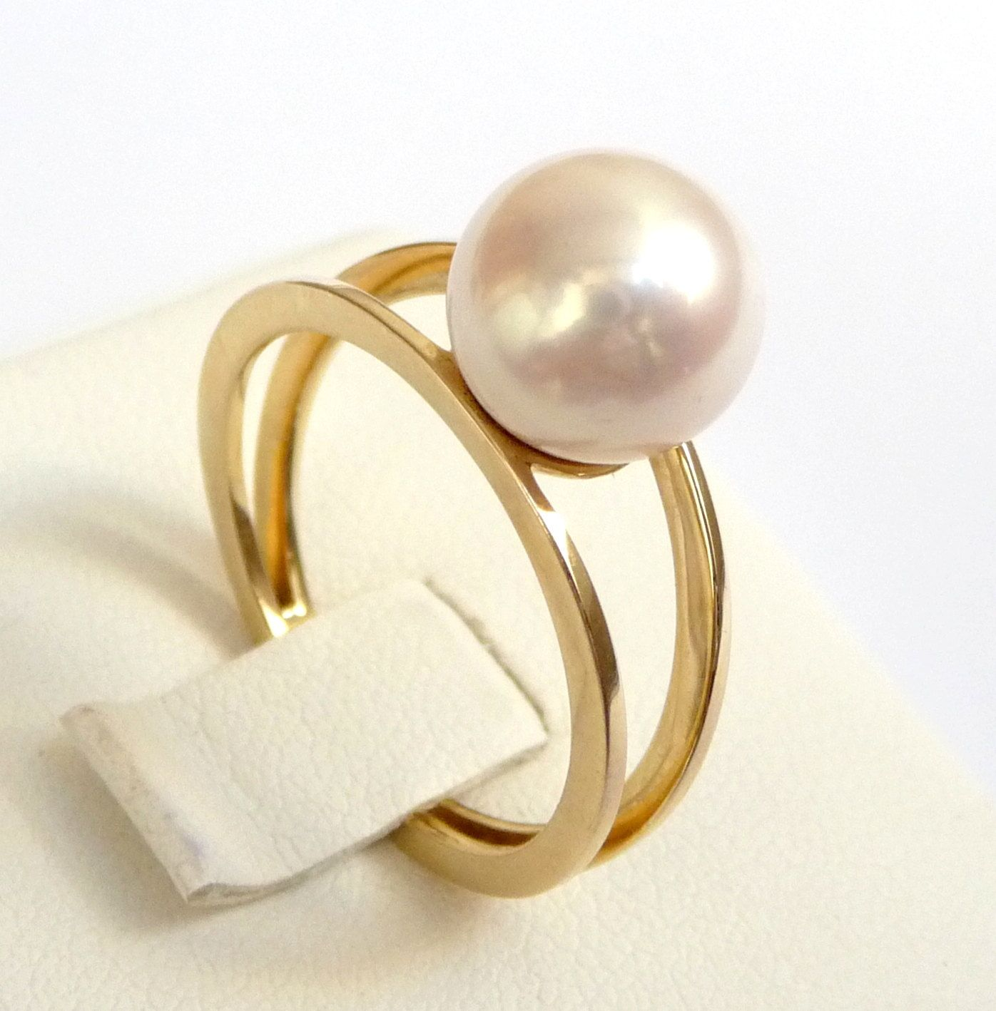 pearl engagement ring gold pearl ring perfect gift promise ring