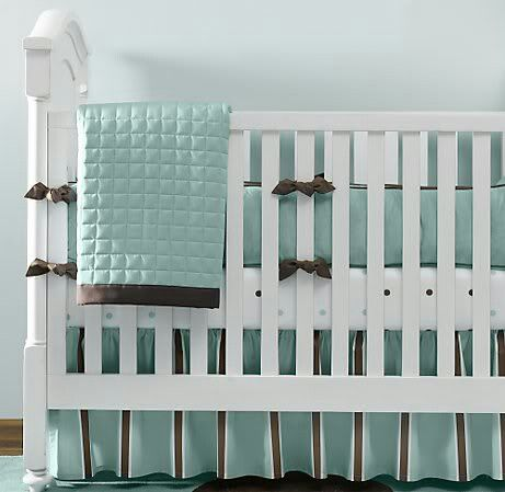 Teal And Brown Baby Bedding Turquoise Nursery Tiffany Blue
