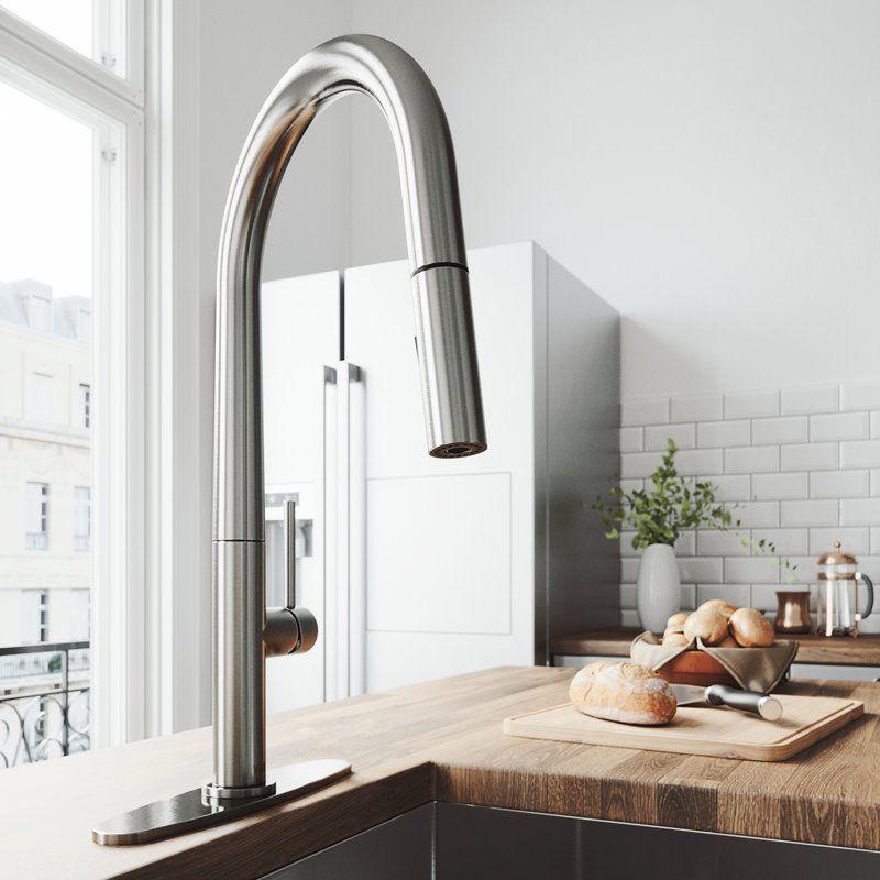 Greenwich Pull Down Single Handle Kitchen Faucet Kitchen Faucet Stainless Kitchen Faucet Stainless Steel Kitchen Faucet