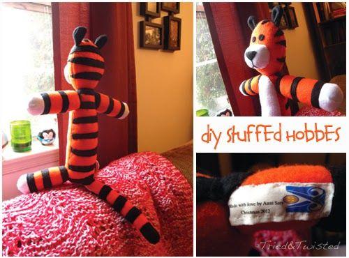 DIY Stuffed Hobbes #sew